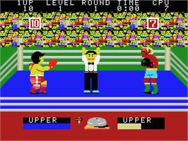 In game image of Champion Boxing on the MSX.