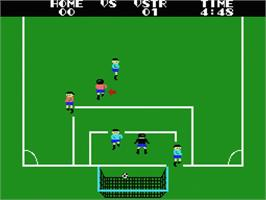 In game image of Champion Soccer on the MSX.