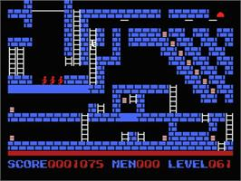 In game image of Championship Lode Runner on the MSX.