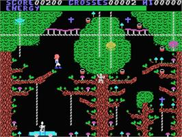 In game image of Chiller on the MSX.