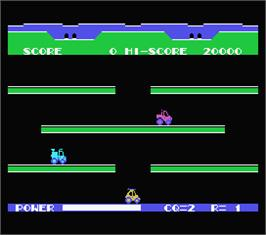 In game image of Choro Q on the MSX.