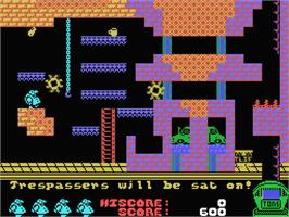 In game image of Chubby Gristle on the MSX.