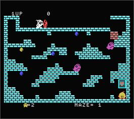 In game image of Chuckie Egg on the MSX.