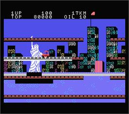 In game image of City Connection on the MSX.