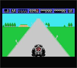In game image of Coaster Race on the MSX.