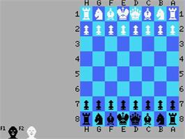 In game image of Colossus 4 Chess on the MSX.