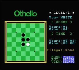 In game image of Computer Chess on the MSX.