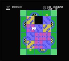 In game image of Crazy Train on the MSX.