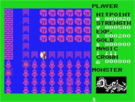 In game image of Dragon Slayer: The Legend of Heroes on the MSX.
