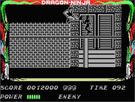 In game image of Dragon World on the MSX.