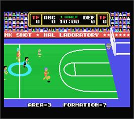 In game image of Dunk Shot on the MSX.
