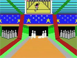 In game image of Dynamite Bowl on the MSX.