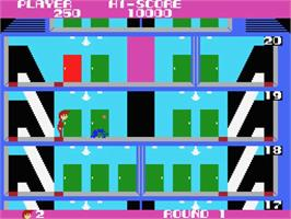 In game image of Elevator Action on the MSX.