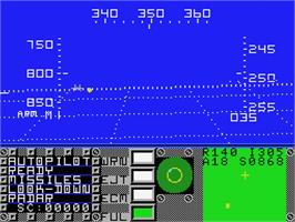 In game image of F-16 Fighting Falcon on the MSX.