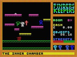 In game image of Finders Keepers on the MSX.