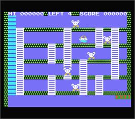 In game image of Fire Rescue on the MSX.