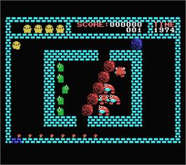 In game image of Flappy on the MSX.