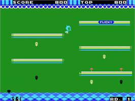 In game image of Flicky on the MSX.