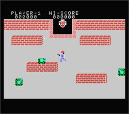In game image of Front Line on the MSX.