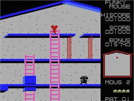 In game image of Funky Mouse on the MSX.