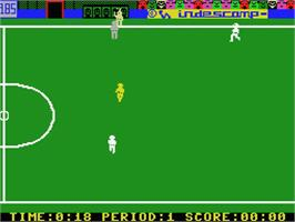 In game image of Futbol on the MSX.