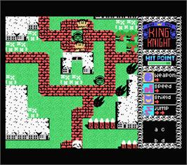 In game image of Future Knight on the MSX.