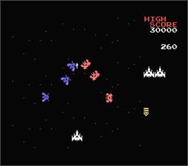 In game image of Galaga on the MSX.