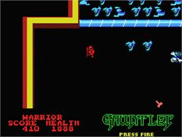 In game image of Gauntlet on the MSX.