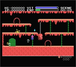 In game image of Goonies, The on the MSX.