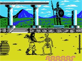 In game image of Hercules: Slayer of the Damned on the MSX.
