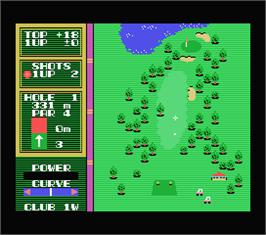 In game image of Hole in One on the MSX.