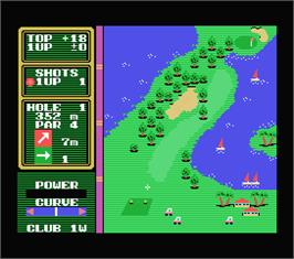 In game image of Hole in One Professional on the MSX.