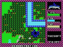 In game image of Hydlide on the MSX.