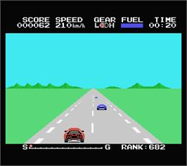 In game image of Hyper Rally on the MSX.