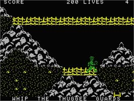 In game image of Indiana Jones and the Temple of Doom on the MSX.