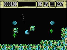 In game image of Jaws on the MSX.