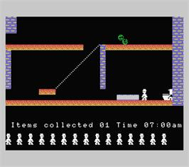 In game image of Jet Set Willy on the MSX.