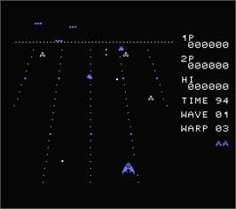In game image of Juno First on the MSX.