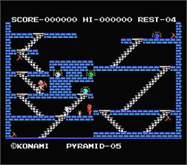 In game image of King's Valley on the MSX.