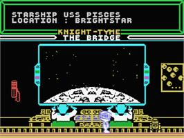In game image of Knight Tyme on the MSX.