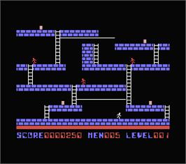 In game image of Lode Runner on the MSX.