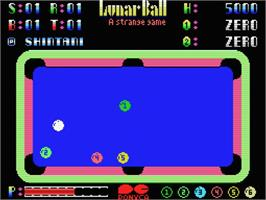In game image of Lunar Ball on the MSX.