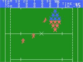In game image of MSX Rugby on the MSX.