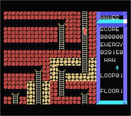 In game image of Manes on the MSX.