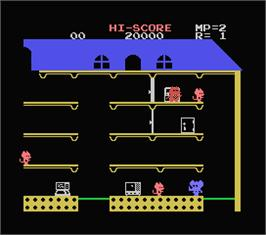 In game image of Mappy on the MSX.
