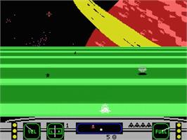 In game image of Moonsweeper on the MSX.