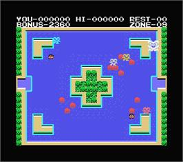 In game image of Mopiranger on the MSX.
