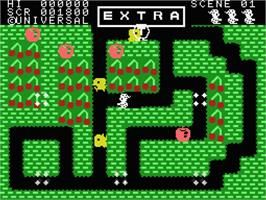 In game image of Mr. Do! on the MSX.