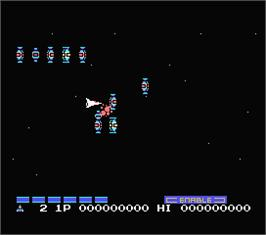 In game image of Nemesis 2 on the MSX.