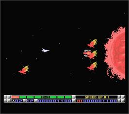 In game image of Nemesis 3: The Eve of Destruction on the MSX.